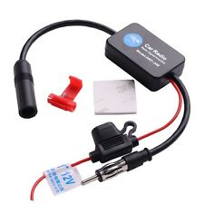 1x Car Inline Antenna Aerial Radio AM & FM Signal Amplifier Booster ANT-208