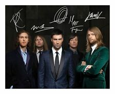 MAROON 5 SIGNED AUTOGRAPHED A4 PP PHOTO POSTER