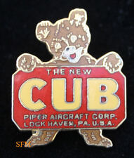 PIPER J3 CUB AIRPLANE LOGO HAT PIN PILOT WING SOLO GIFT FAA AIRPLANE WOW! L@@K!