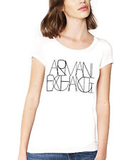 NEW Genuine ARMANI EXCHANGE AX White Logo T Shirt Womens Size Medium