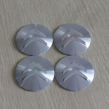 Set of 4 Sticker 3D Citroen Silver Style Wheel Center Hub Cap Badge Emblem 57mm