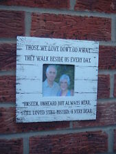shabby vintage chic those we love dont go away heaven photo frame christmas gift