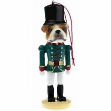 English Bulldog Dog Toy Soldier Nutcracker Christmas Ornament