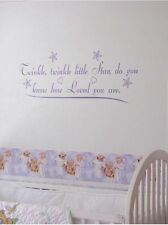 Twinkle little star you know how loved you are Vinyl Wall Sticky Decor Letters