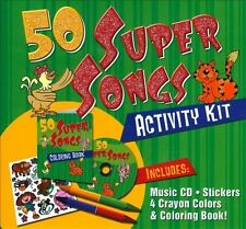 50 Silly Songs CD Activity Kit  Packaged in carrying case with Stickers, Crayons