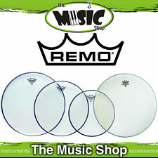 """Remo Pro Head Pack - Emperor Clear Skins 10"""", 12"""", 14"""" + 14"""" Ambass PP-0240-BE"""
