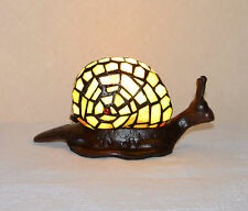 Stained Glass Tiffany Style Snail Night Light Table Desk Lamp. Cute!