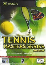 TENNIS MASTERS SERIES 2003 for Xbox - with box & manual - PAL