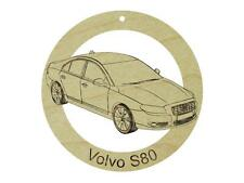 2011 Volvo S80 Natural Maple Hardwood Ornament Sanded Finish Laser Engraved