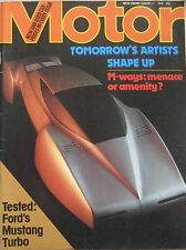 Motor magazine 11/8/1979 featuring Ford Mustang Turbo road test, Talbot Horizon