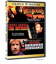 Hellbound + Hitman + Forced Vengeance Chuck Norris Region 4 DVD New (2 Discs)