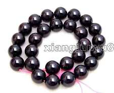 "SALE Big 13-13.5mm Round high quality Natural Brown garnet Beads strand 15""-l147"