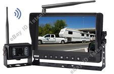 "9"" DIGITAL WIRELESS REAR VIEW BACKUP CAMERA SYSTEM FOR RV 5TH WHEEL TRAILER"