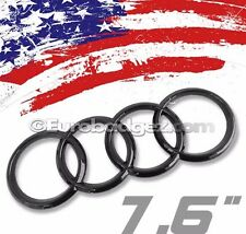 1 - NEW Audi GLOSS BLACK REAR Rings Trunk Boot Badge Emblem B7 A6 A8 Q5 Q7 7.6GB