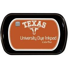 New colorbox Rubber stamp University of of TEXAS DYE Ink pad free US ship