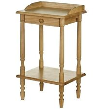 PREMIER RECTANGULAR RUBBERWOOD TELEPHONE SIDE TABLE WITH DRAWER