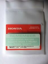 Genuine Honda Warning Preserve Nature Decal Z50 ST70 Monkey Bike Dax Z50m White