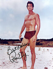 REPRINT - RON ELY 2 Tarzan autographed signed photo copy