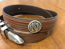Brown Genuine Leather Belt with Northwestern University Conchos 40 LE