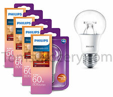 4 x Philips LED 9W Bulb (60W) E27 Sparkling Warm White 806 Lumen Dimmable