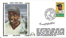 FIRST DAY COVER COOL PAPA BELL NEGRO LEAGUE AUTO FDC JACKIE ROBINSON STAMP