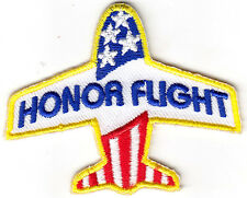 """HONOR FLIGHT""- MILITARY-VETERANS-PEACE-PATRIOTICI -IRON ON EMBROIDERED PATCH -"
