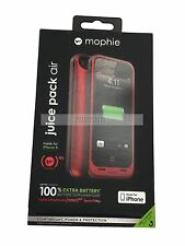 Mophie Juice Pack Air Rechargeable 1700mAh Battery Case for iPhone 5 5S SE Red