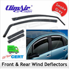 CLIMAIR Car Wind Deflectors NISSAN LEAF 2010 onwards SET (4) NEW