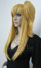 Fairy Tail Lucy Heartphilia Cosplay Wig Long Straight Gold Synthetic Hair Wigs