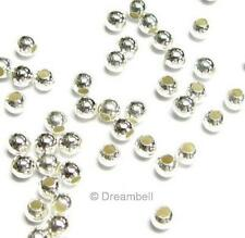 50x Sterling Silver seamless Round Spacer Beads 3mm 925