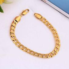 Classic Chain 18K Gold Filled Bracelet Luxury Jewelry Gift for Lady Girl Boy Men