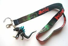 "3"" Godzilla 2000 Mascot Figure with Black Color Fabric Lanyard #4"