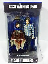 "WALKING DEAD TV SERIES COLOUR TOPS BLUE CARL GRIMES 7"" ACTION FIGURE McFARLANE"