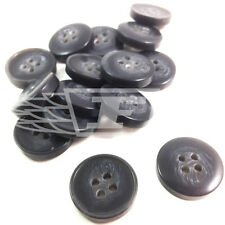 PACK OF 25, 20mm SLATE GREY PLASTIC BUTTON BUTTONS 4 HOLE SEWING BTN (28066-32)