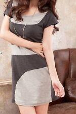 Deep gray on light gray short sleeve shirt dress size small NEW spring summer