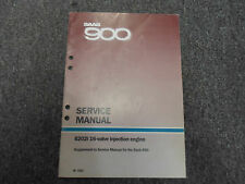 1986 SAAB 900 B202i 16 Valve Injection Engine Supplement Service Repair Manual