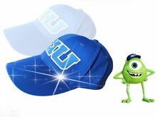 Blue MU Hat Monsters University Movie Pixar Mike Baseball Caps 2016 New Arrival