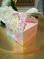 10 Flower Luxury Wedding Party Sweets Cake Candy Gift Favour Favor Boxes Bag H09