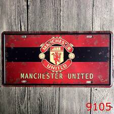 Metal Tin Sign manchester united Decor Bar Pub Home Vintage Retro Poster Cafe