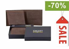 RFID Blocking Mens contactless card Wallet Real Genuine Cow Leather (SM-903HBR)