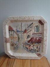 Paris Plate Decorative Wall Hanging French Cafe France Raised CBK 2003 Bakery