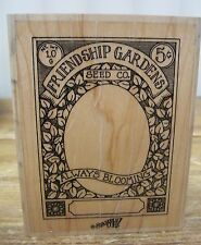 Rubber Stamp Stampin Up Friendship Gardens Friend Mounted Scrapbooking Crafts