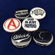 "ANTI-RELIGIOUS 1"" buttons badges Atheism Atheist Jesus God Religion"