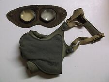 WWII US Army M1 Respirator Dust Mask & Goggles dated 1942 Eye Protection RARE