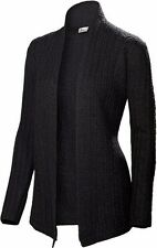 NEVE DESIGNS Vivienne CABLED Wrap MERINO Wool SHAWL Collar SWEATER Women size XS