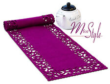 Purple Felt Table Runner Openwork Design