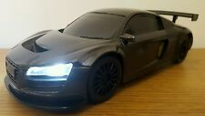 AUDI R8 QUATTRO SPORT RADIO REMOTE CONTROL CAR  1:16 - FAST SPEED METTALIC BLACK