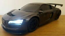 AUDI r8 Quattro Sport Radio telecomando auto 1:16 - veloce velocità METTALIC BLACK
