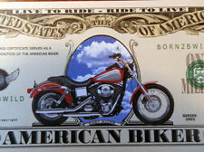 Motorcycles Live to Ride FREE SHIPPING! Million-Dollar novelty bill