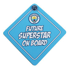 MANCHESTER CITY FC BABY ON BOARD CHILD SIGN CAR ACCESSORIES WINDOW NEW GIFT XMAS